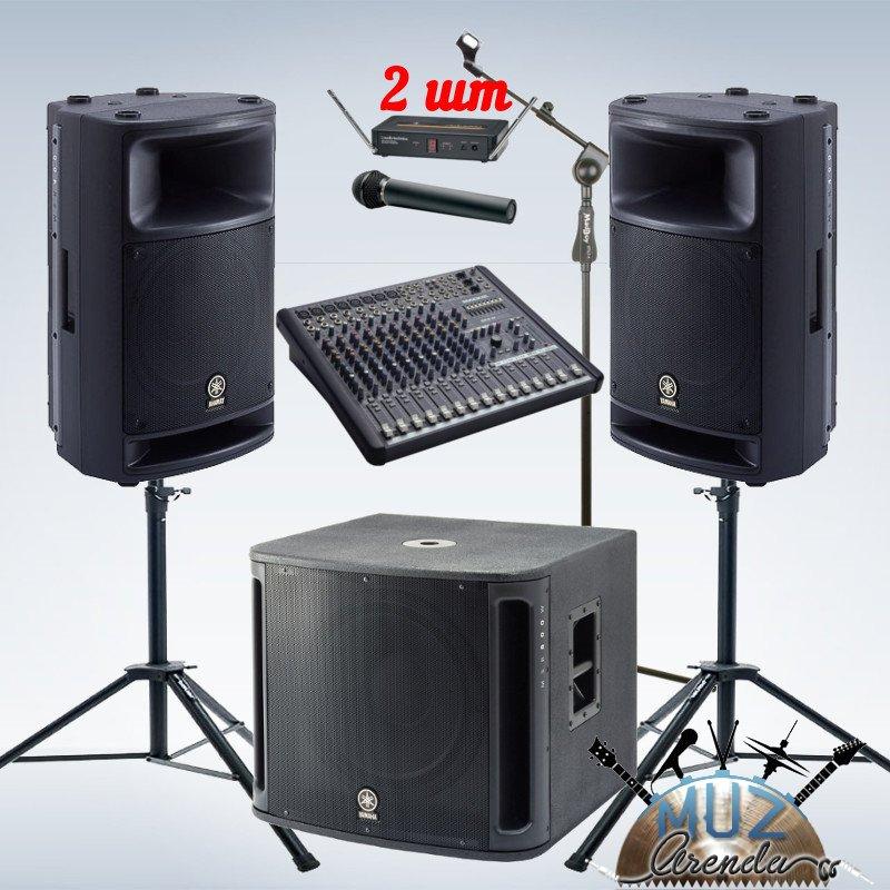 Доступный вариант для проведения малых концертов. Идеален для начинающей группы!