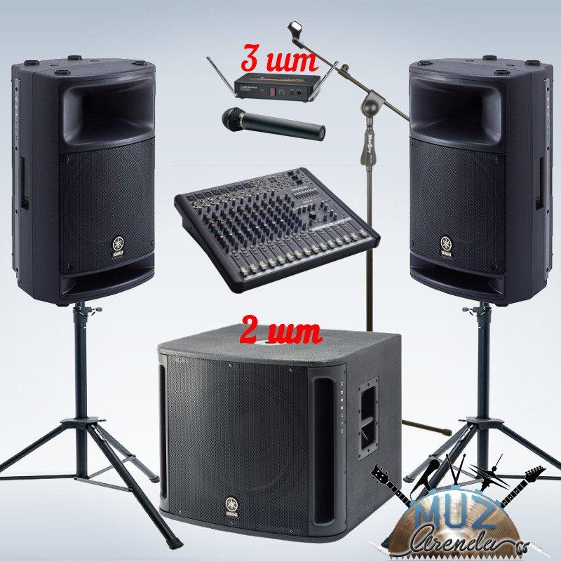 Комплект звукового оборудования для небольших  уличных  мероприятий.