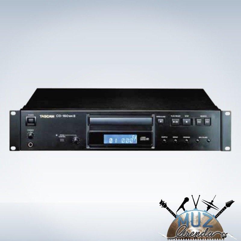 Tascam CD-160 представляет собой полнофункциональный CD-проигрыватель, предназначенный, в основном, для коммерческих инсталляционных работ. Широкие возможности CD-160, а также жесткие рамки разработки этого проигрывателя делают его надежным и многофункциональным. Устройство чтения компакт-дисков CD-160 позволяет работать как с CD-RW дисками, так и CD дисками и CD-R матрицами. Имеется возможность непосредственного подключения по цифровым каналам к устройствами цифровой записи при помо